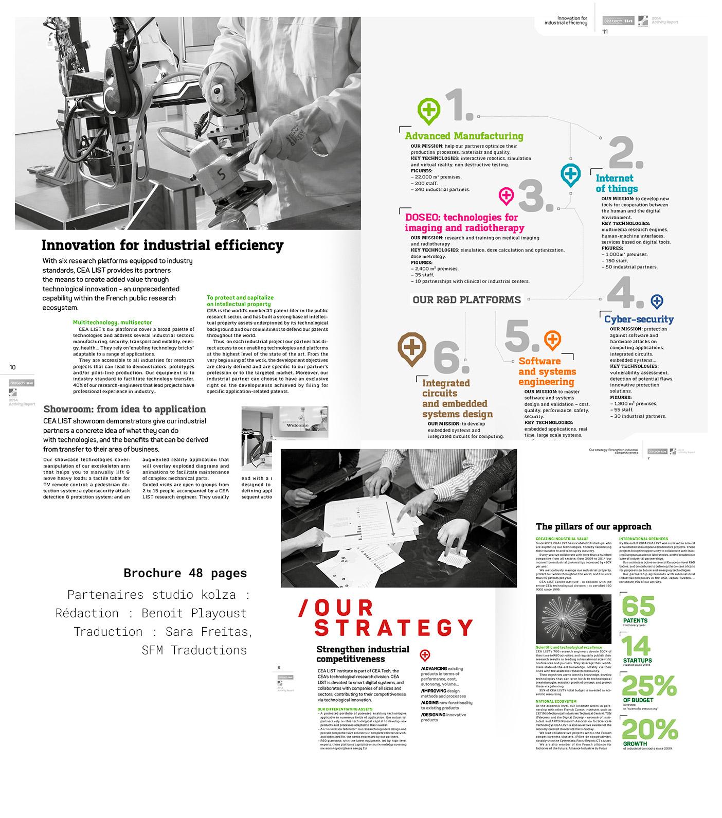 Doubles-pages du rapport d'activité CEA List 2014 (version anglaise)
