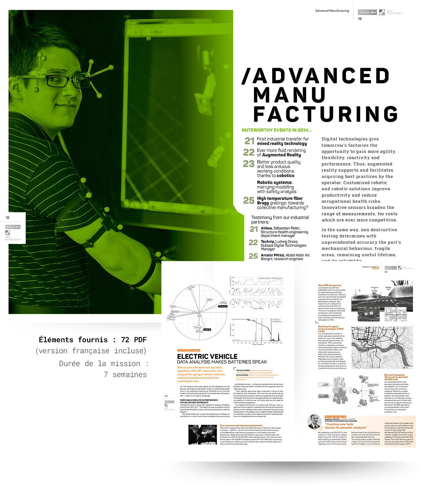 Pages intérieures du rapport d'activité CEA List 2014 (version anglaise)
