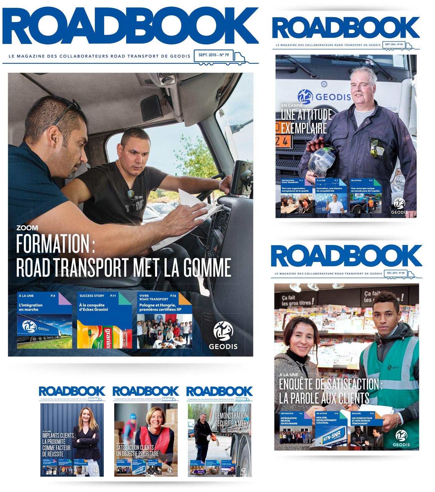 Couvertures magazine ROADBOOK (Geodis)