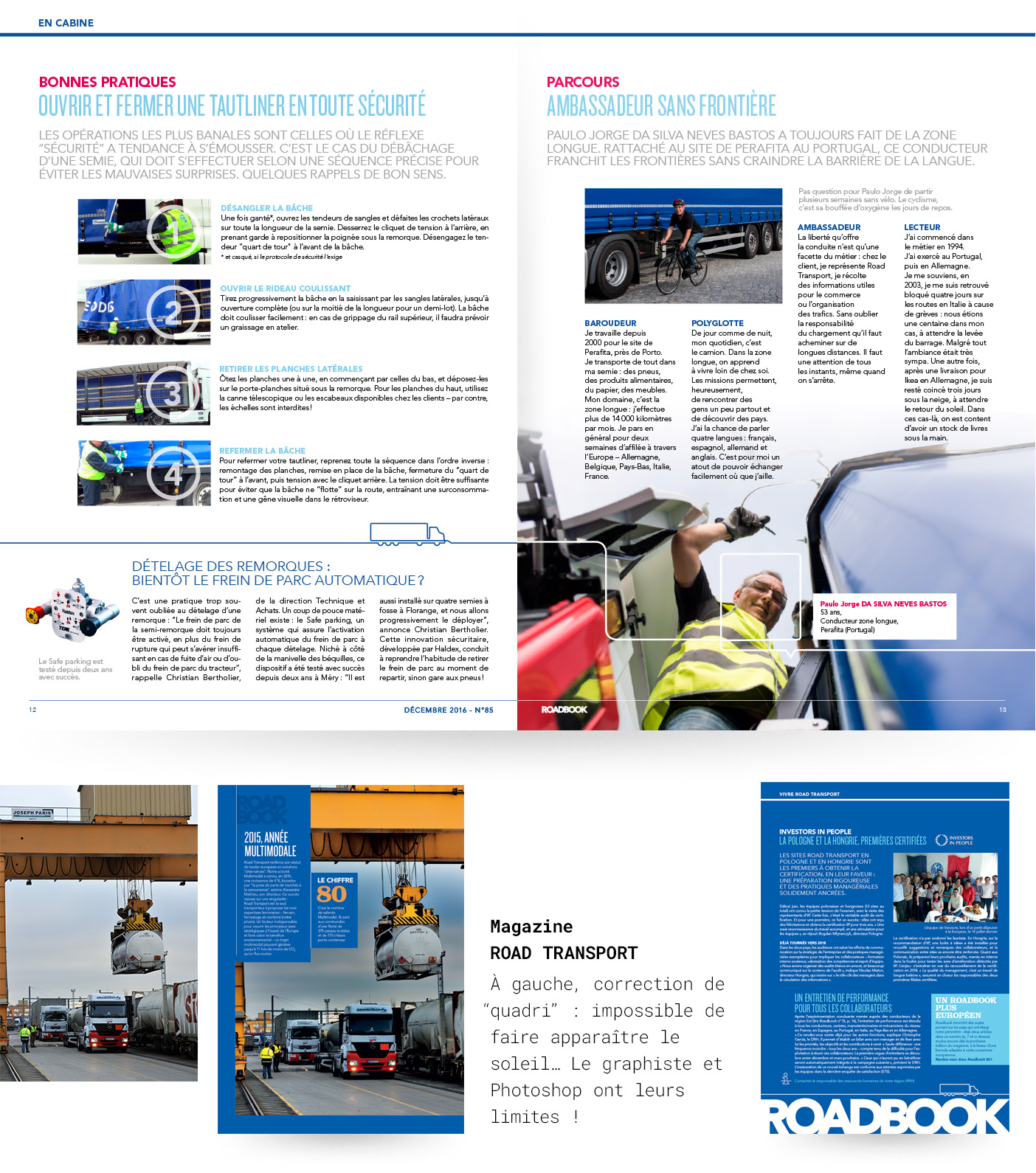 Pages du magazine ROADBOOK (Geodis)